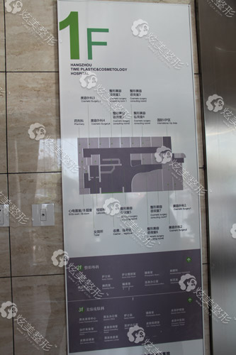 杭州时光整形医院楼层导视