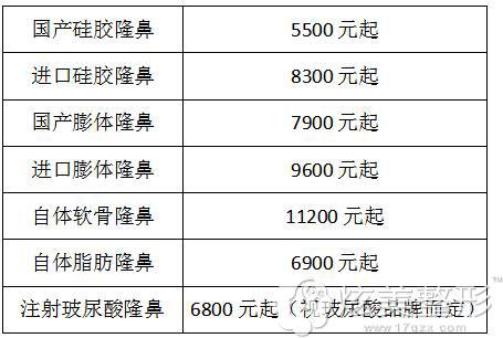 上海九院整容价格表_上海九院李青峰隆鼻怎么样贵不贵