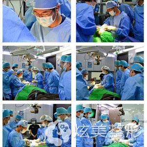 专注于整形手术中的郑裕锡医生