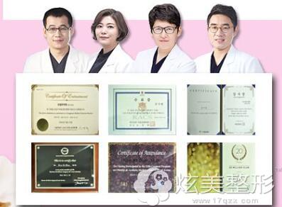 韩国宝士丽整形专家团队