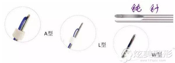 美迪塑埋线使用的是三种钝针头