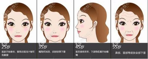 面部皮肤松弛下垂后的表现